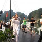 Morning Tai Chi on the cruise, Vietnam local tours