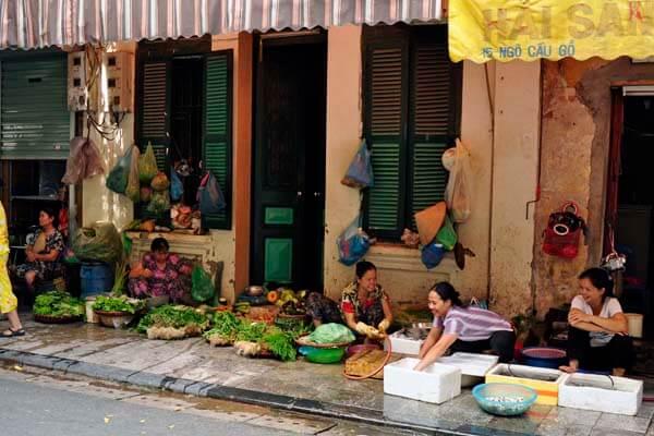 a corner of Vietnam market, Vietnam local tours