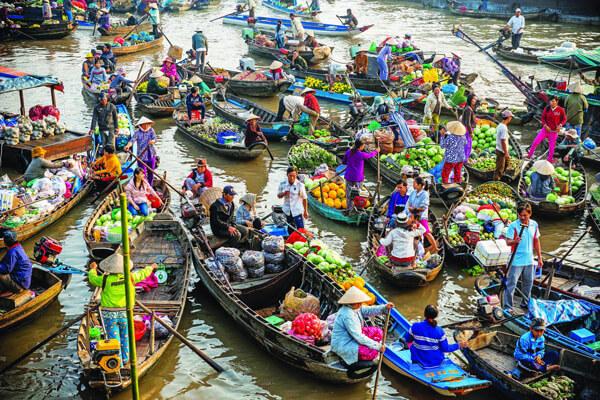 Cai Rang Flaoting Market, Vietnam vacations