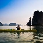Kayaking to discover Halong Bay