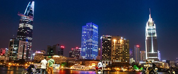 This place next to Saigon river, you can see the beauty of Ho Chi Minh city at night