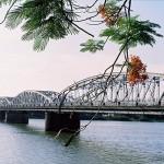 Trang Tien bridge crossing over Perfume River
