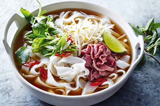 Pho Bo Noodle Soup with Beef
