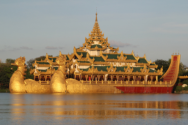 Karaweik Palace in Yangon