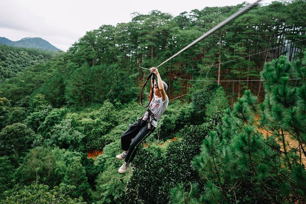 Da Lat Hight rope, Southern Tours in Vietnam