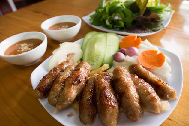 ninh hoa grilled pork sausage