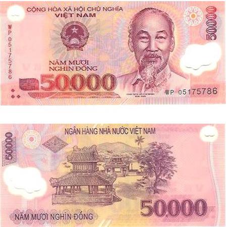 50000 Vietnam Dong