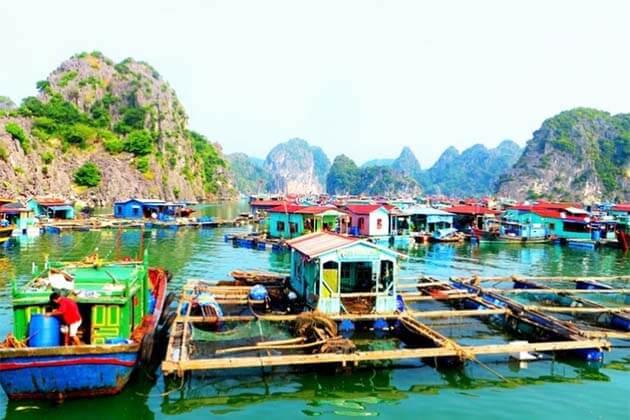 Floating village at Ha Long Bay, Vietnam local tours