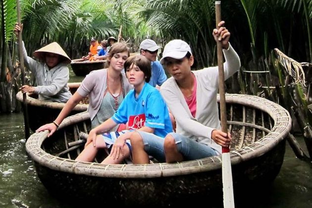 Boating on the river with family, Vietnam Family Tours Packages