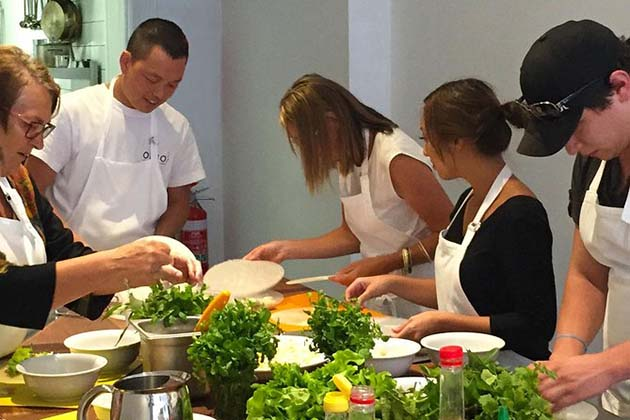 Cooking class, Vietnam family tours vacation packages