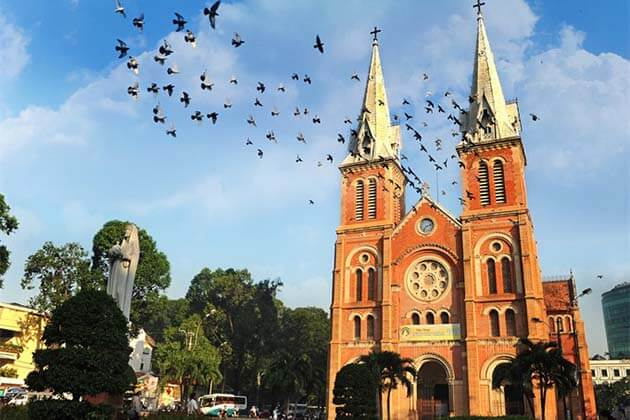 Notre Dame Cathedral in Sai Gon, Family Tour in Vietnam