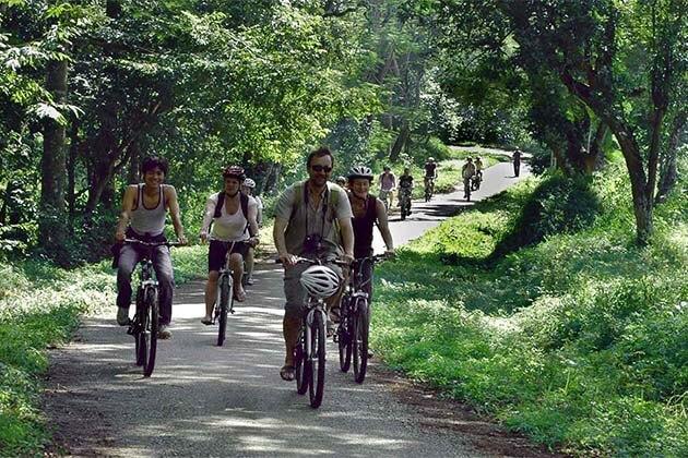 Riding at Cuc Phuong National Park, Vietnam Adventure Tour Packages - Copy