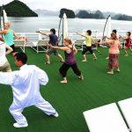 Tai Chi Class, Vietnam family tour paclages
