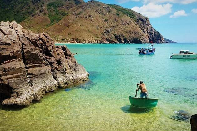the most majestic beach of Quy Nhon Beach, Vietnam tour beach