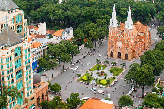Notre Dame Cateral in Ho Chi Minh, Vietnam Beach Tours