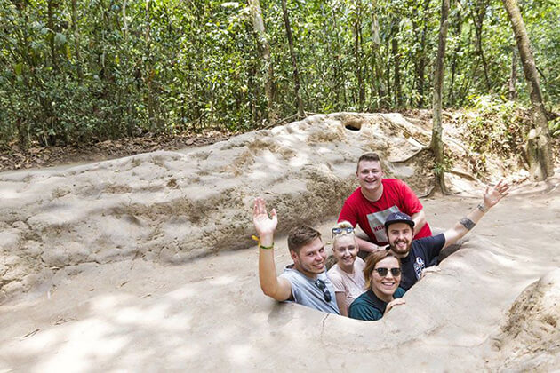 explore Cu Chi Tunnels in Vietnam tour package